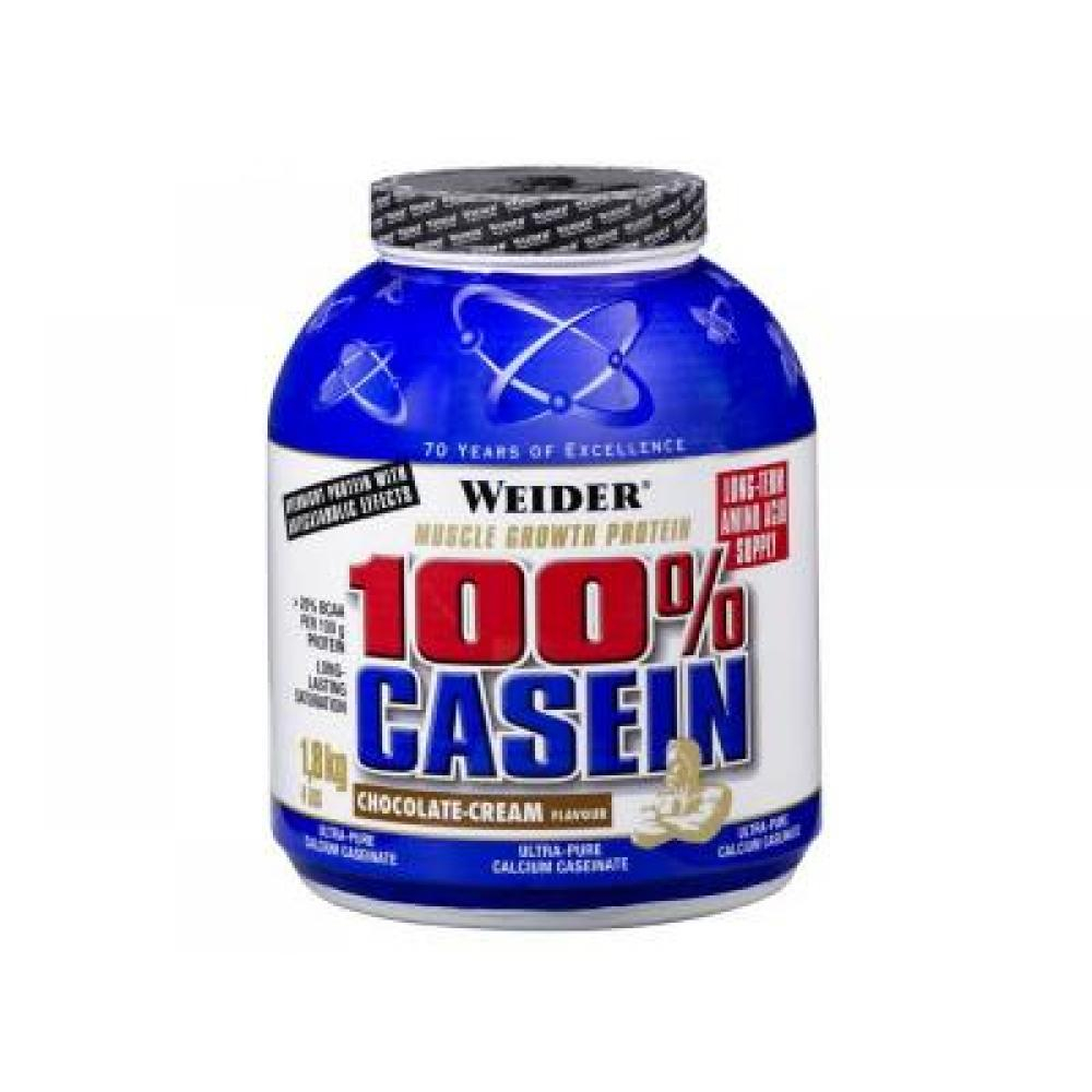 100% Casein, Weider, 1800 g - Red Berry