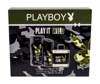 PLAYBOY Play It Wild For Him Toaletní voda 100 ml + Sprchový gel 250 ml + Deodorant 150 ml