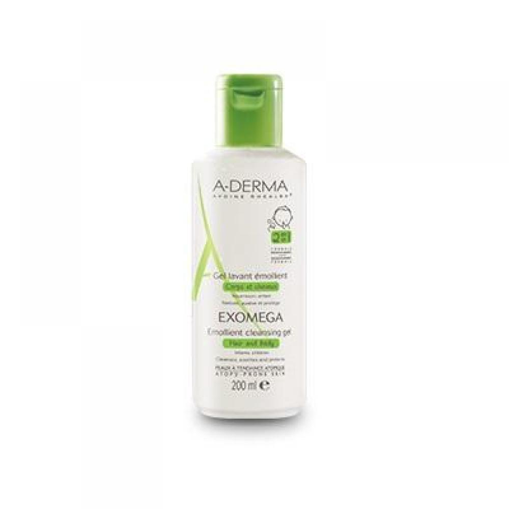 A-DERMA Exomega Zvláčňující pěnivý gel 200 ml