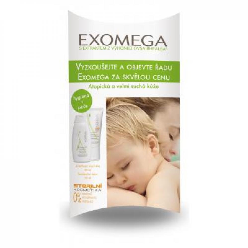A-DERMA Testovací balíček Exomega D.E.F.I ( krém 50 ml + olej 50 ml )