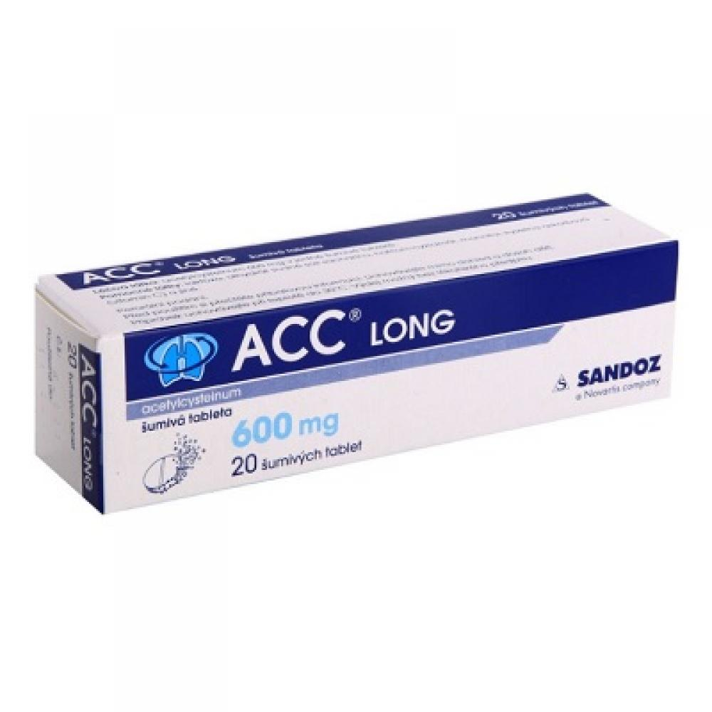 ACC LONG 10X600MG Šumivé tablety