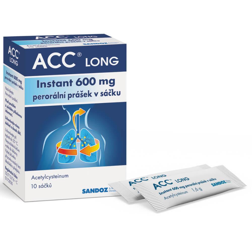 ACC Long instant 600 mg 10 sáčků