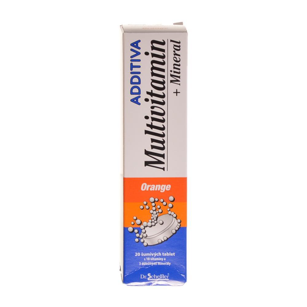 ADDITIVA Multivitamin Pomerančový s minerály 20 šumivých tablet
