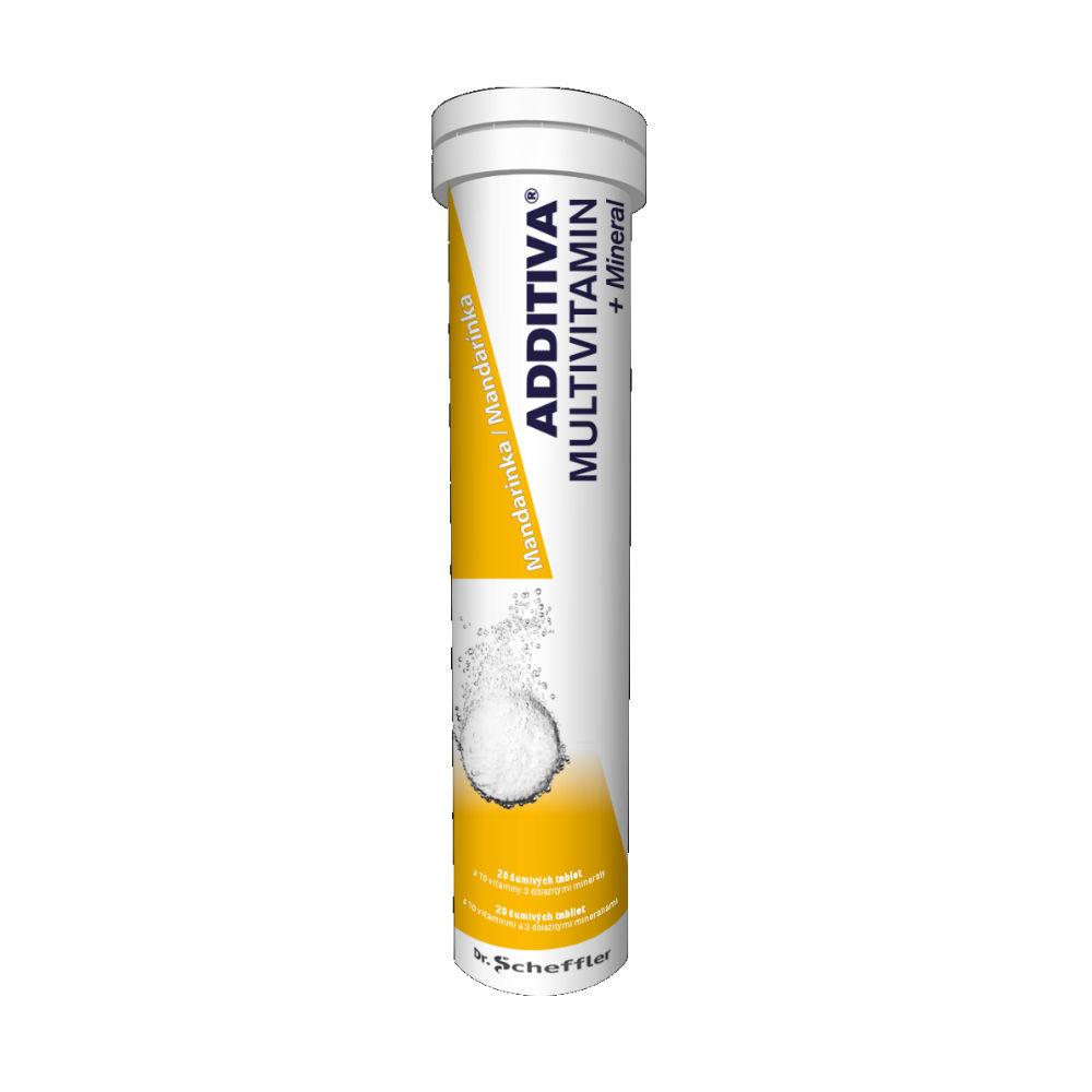 ADDITIVA Multivitamin + Mineral MANDARINKA šumivé tablety 20 ks