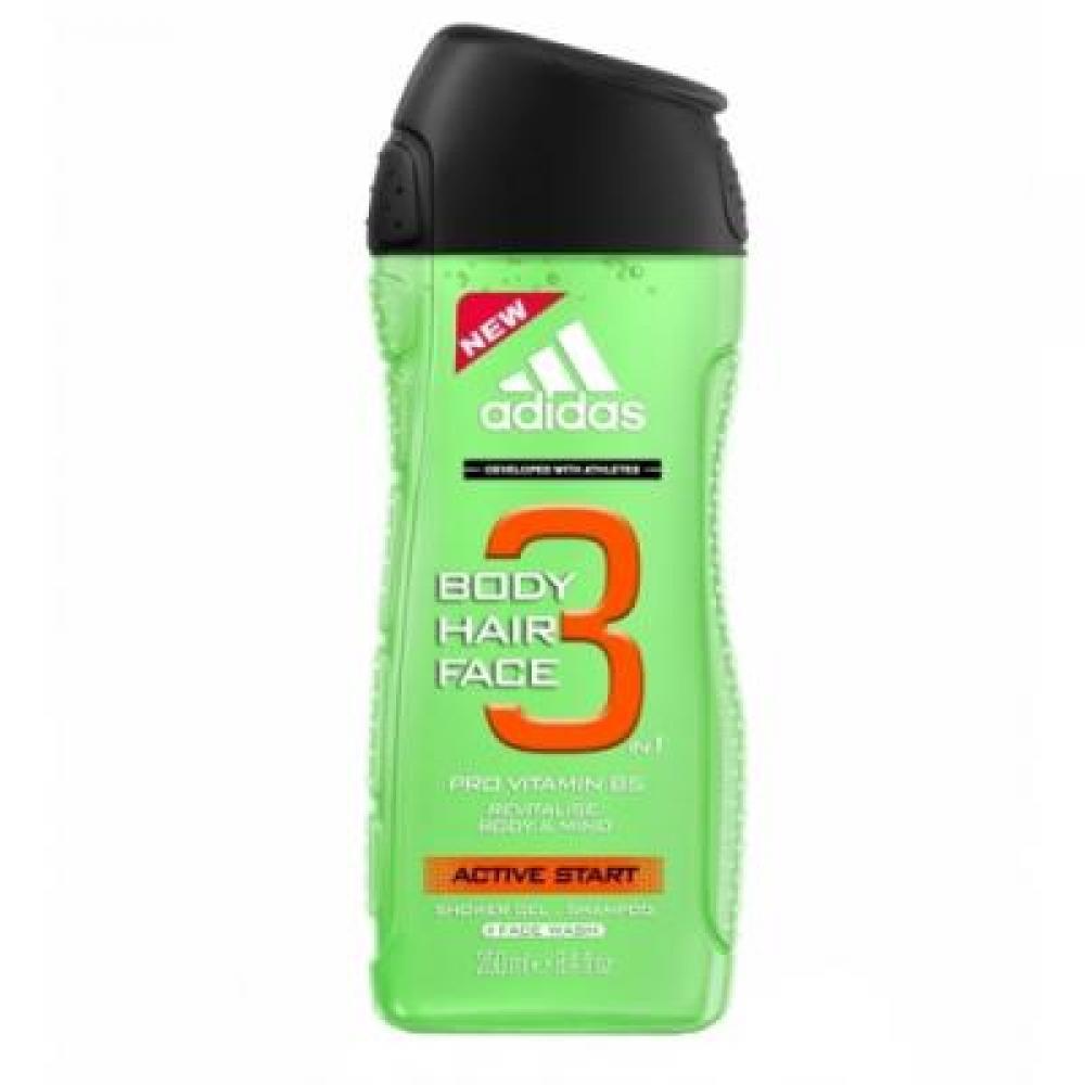 Adidas 3in1 Active Start Sprchový gel 250ml