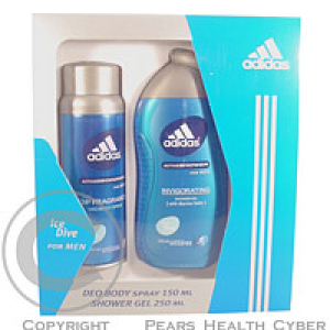 ADIDAS ICE DIVE kazeta Deo 150 ml + sprchový gel 250 ml