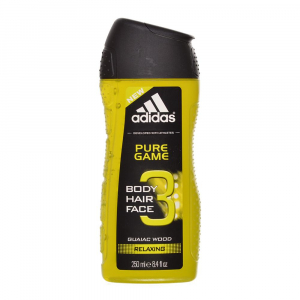 ADIDAS Pure Game Relaxing 3v1 sprchový gel 250 ml