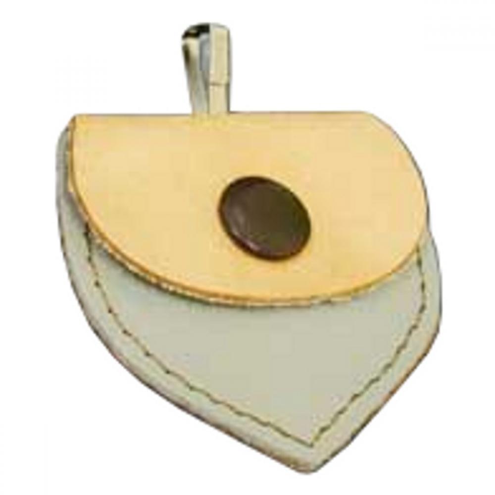 Adresář kožené srdíčko přírodní 55/50mm 1ks