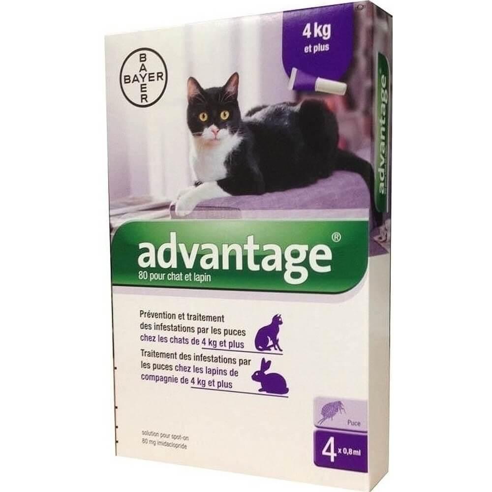 ADVANTAGE roztok v pipetách pro kočky 4x0.8 ml
