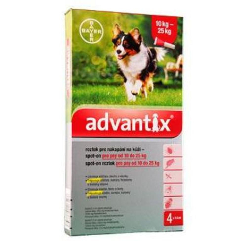ADVANTIX Spot On 4x2,5 ml pro psy 10-25 kg