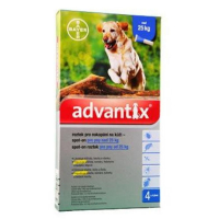 ADVANTIX Spot On 4x4 ml pro psy nad 25 kg