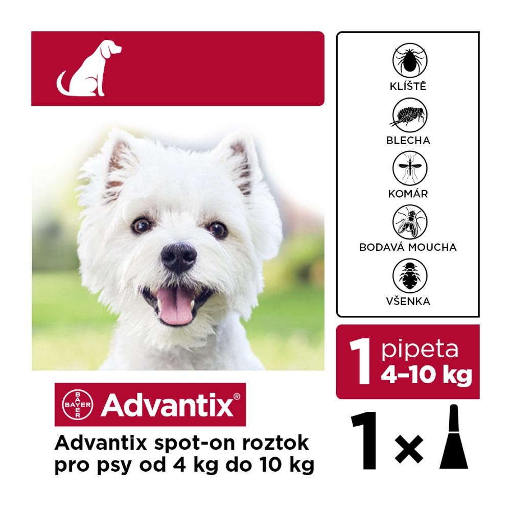 ADVANTIX Spot-on pro psy 4-10 kg 1 x 1 ml