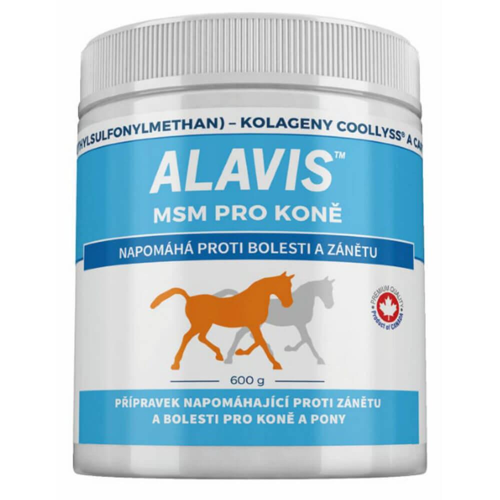 ALAVIS MSM pro koně a pony prášek 600 g