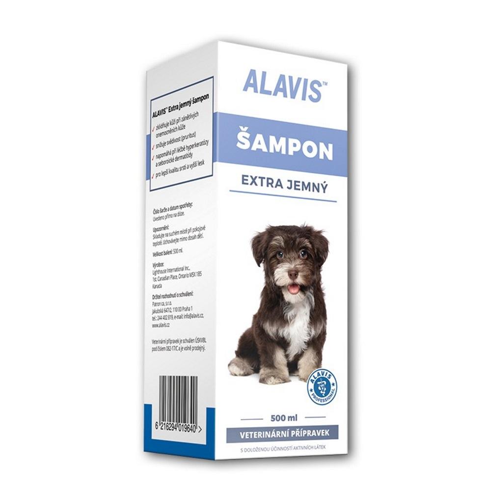 ALAVIS Šampon pro psy extra jemný 500 ml