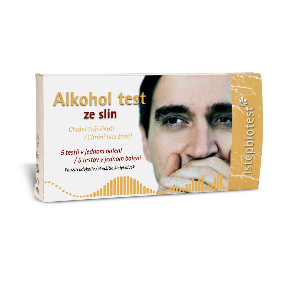 1STEPBIOTEST Alkohol test ze slin 5 kus?