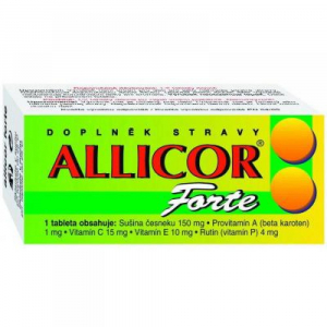 NATURVITA Allicor forte česnek 60 tablet