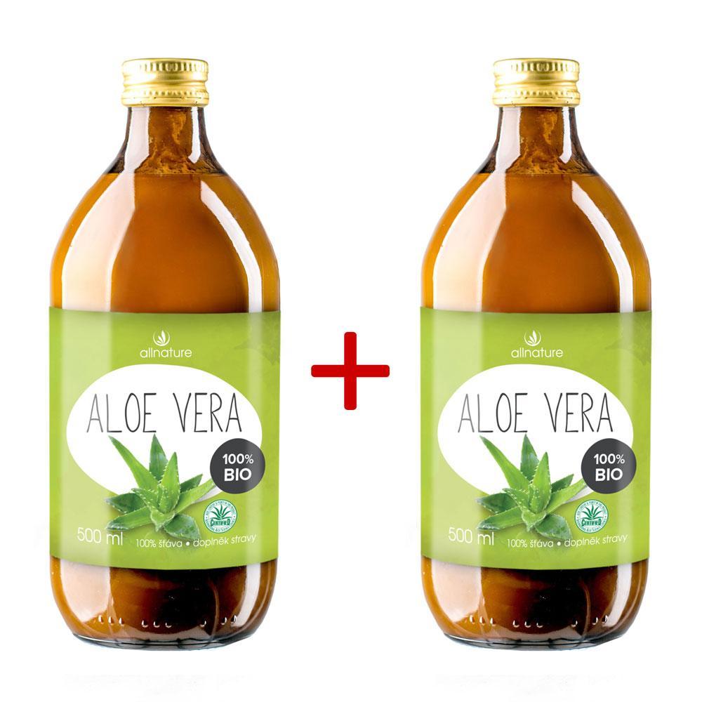 ALLNATURE Aloe Vera BIO 500 ml 1+1 ZDARMA