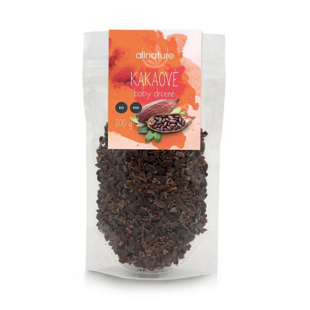 ALLNATURE Kakaové boby drcené BIO/RAW 100 g