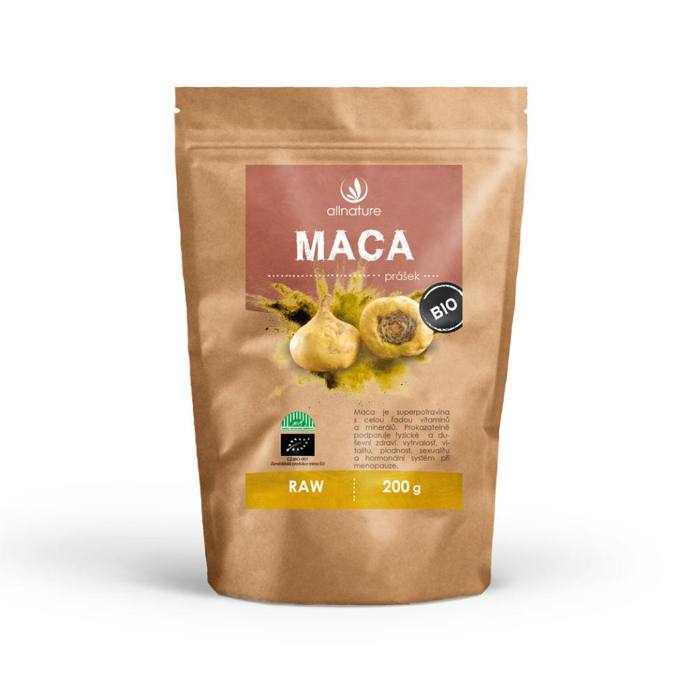 ALLNATURE Maca peruánská prášek BIO/RAW 200 g
