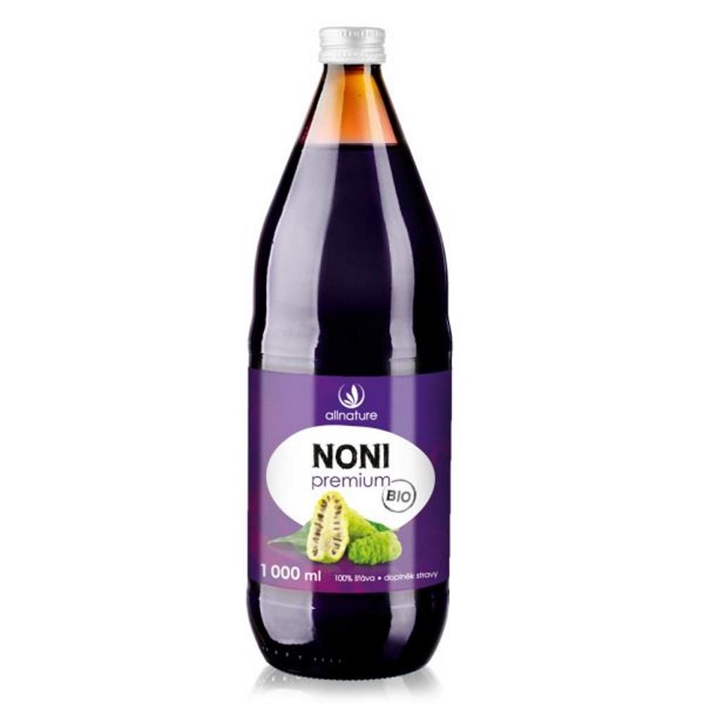 Allnature Noni Premium 100% Bio šťáva 1000 ml