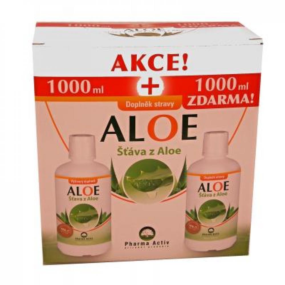 PHARMA ACTIV Aloe Vera Live 1000 ml 1+1 ZDARMA + dárek Olej ze sibiřské jedle 50 ml