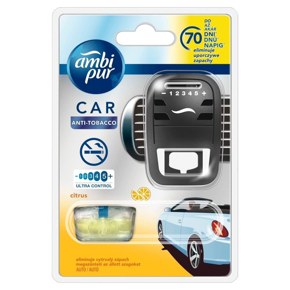 Ambi Pur Car Fresh Escapes Anti Tobacco strojek + náplň 7 ml