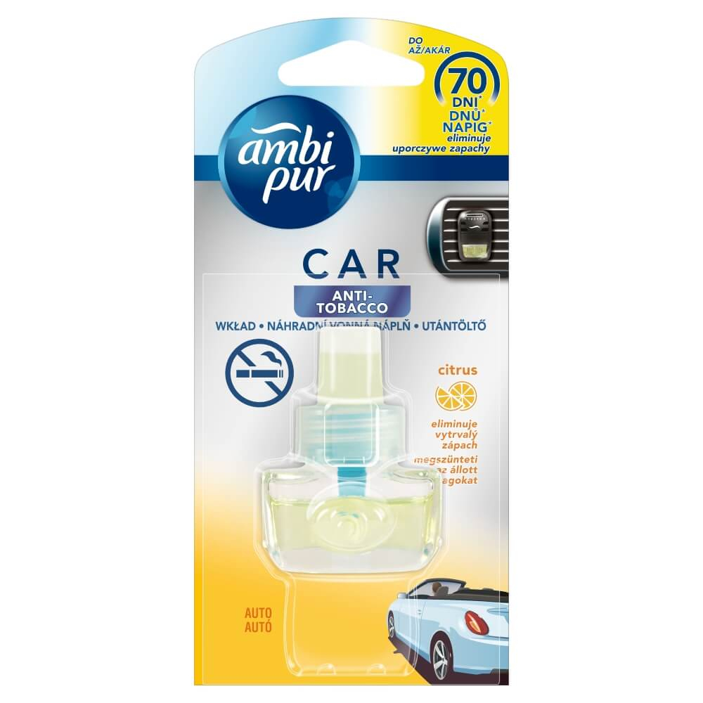 Ambi Pur Car Anti Tobacco náplň 60dní 7ml