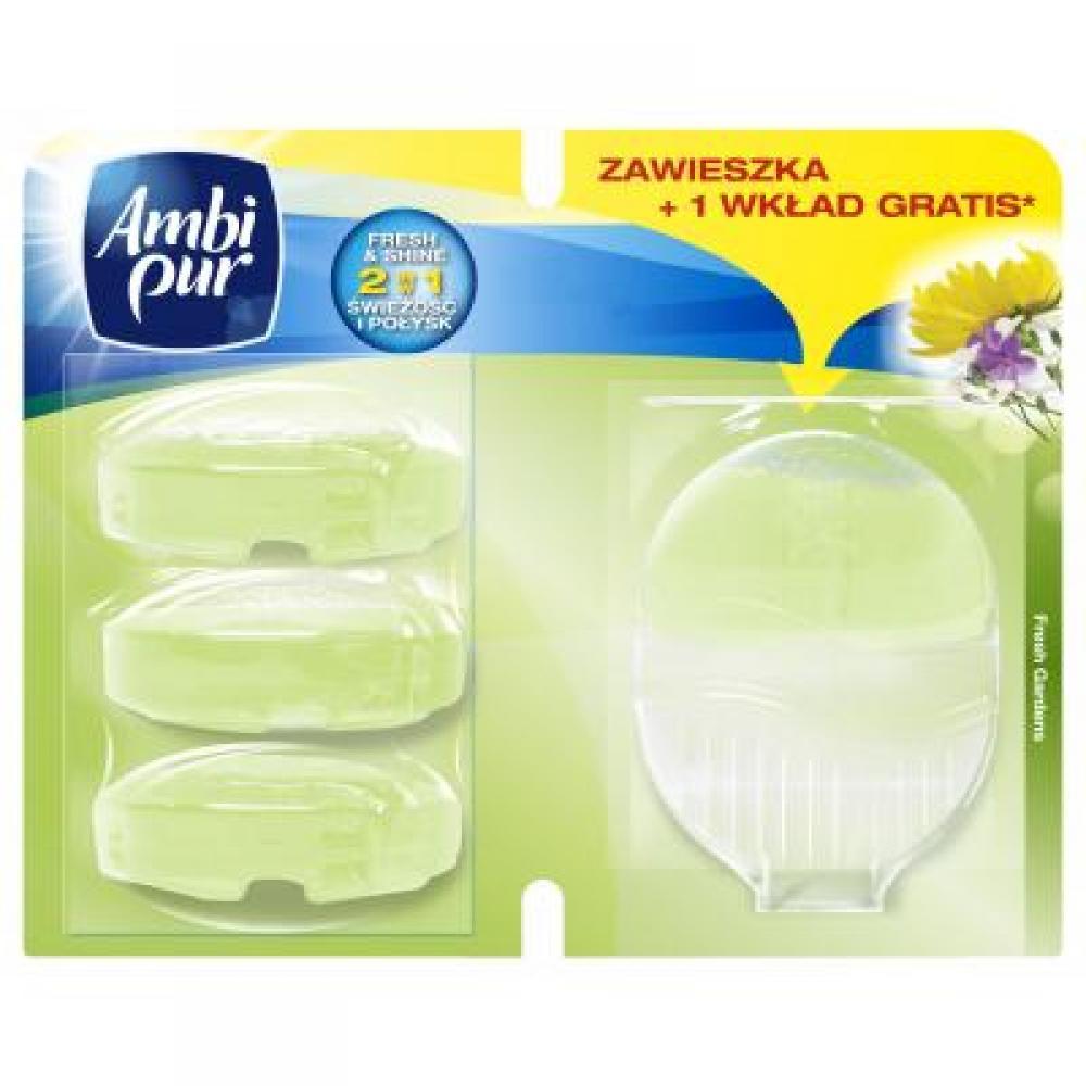 Ambi Pur náplň do WC Fresh gardens 3 x 55 ml + závěs