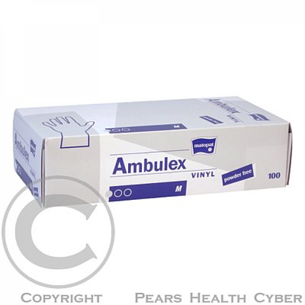 AMBULEX Vinyl rukavice vinylové nepudrované L 100ks