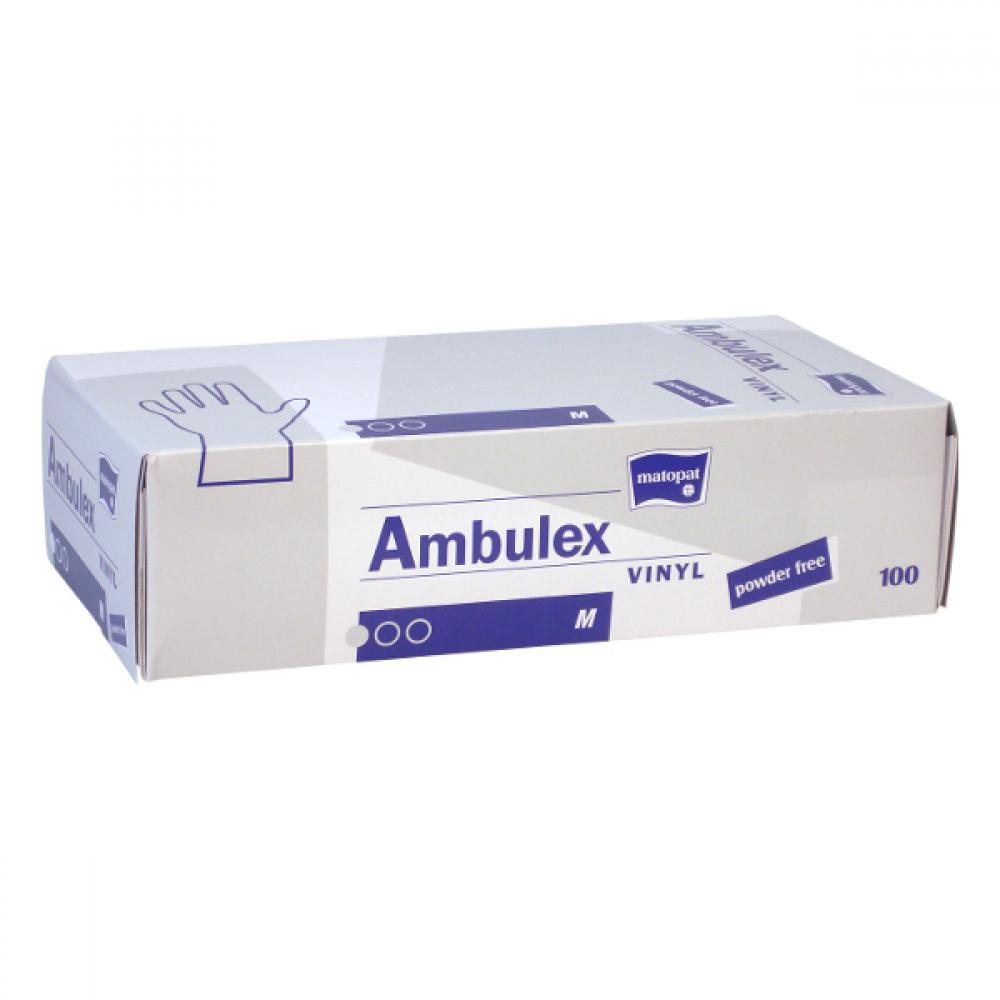 AMBULEX Vinyl rukavice vinylové nepudrované M 100ks