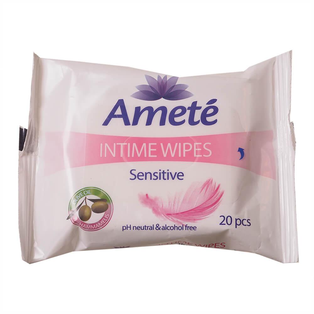 AMETÉ Sensitive ubrousky pro intimní hygienu 20 kusů
