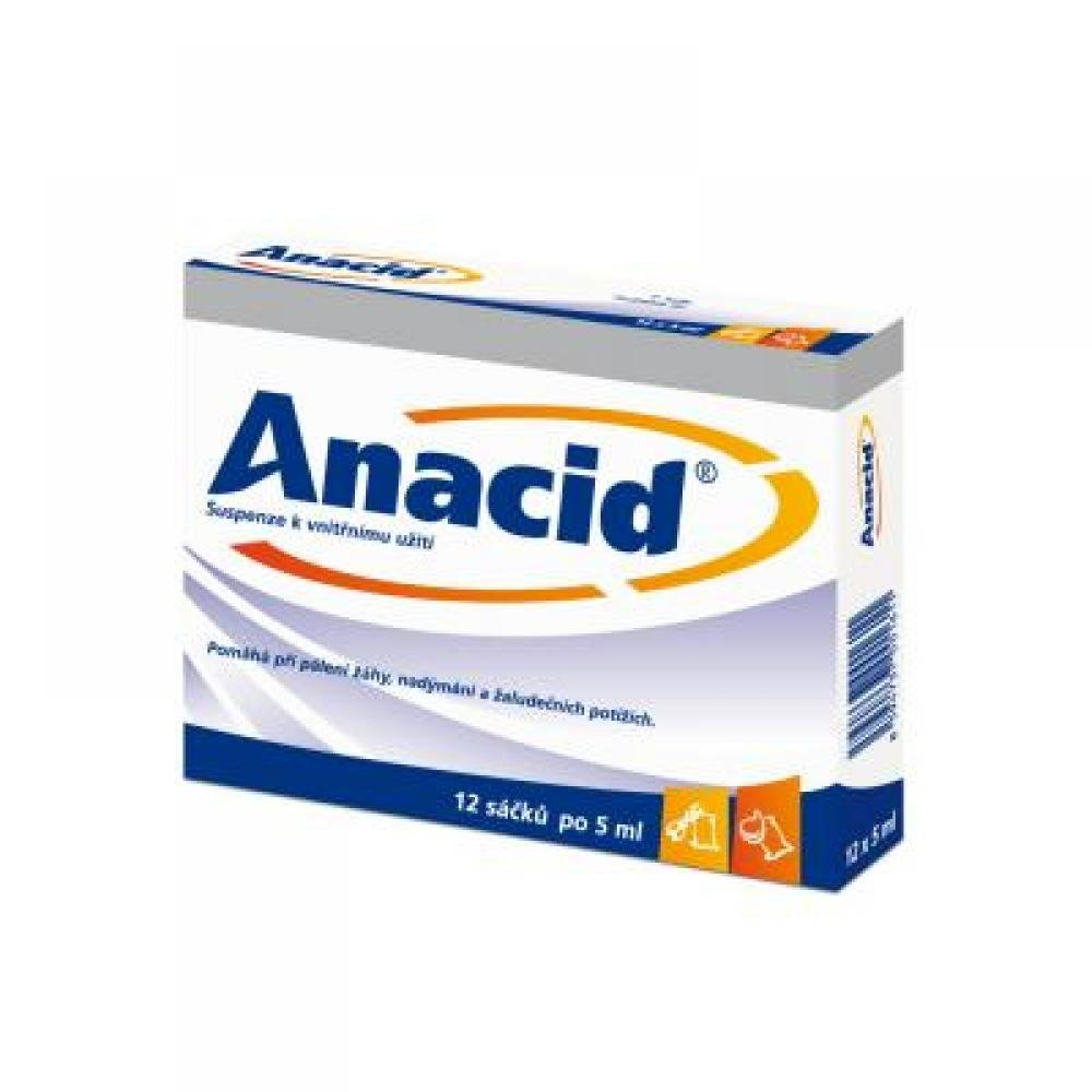 ANACID 12X5ML Suspenze