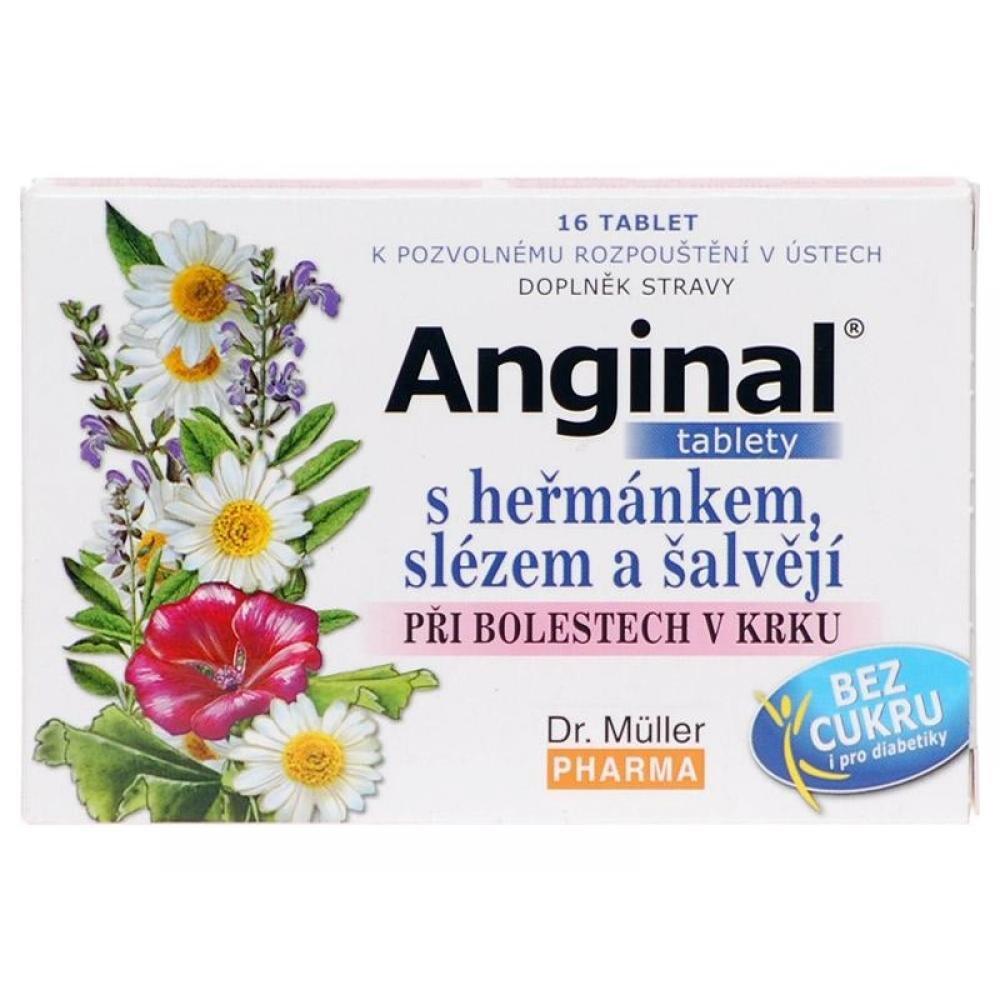 Anginal tablety s heřmánkem + slézem tbl. 16