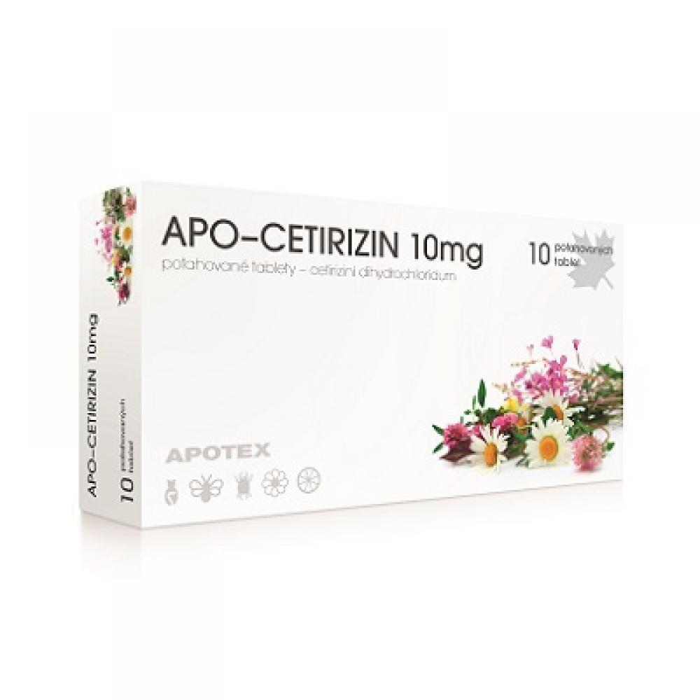 APO-CETIRIZIN 10 mg 10 potahovaných kapslí