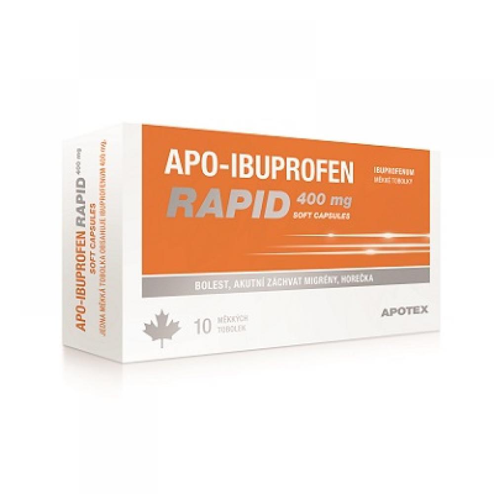 APO-IBUPROFEN RAPID 400 mg SOFT CAPSULES 10 tobolek