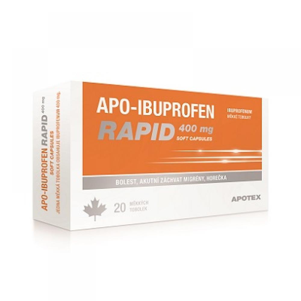 APO-IBUPROFEN RAPID 400 mg SOFT CAPSULES 20 tobolek