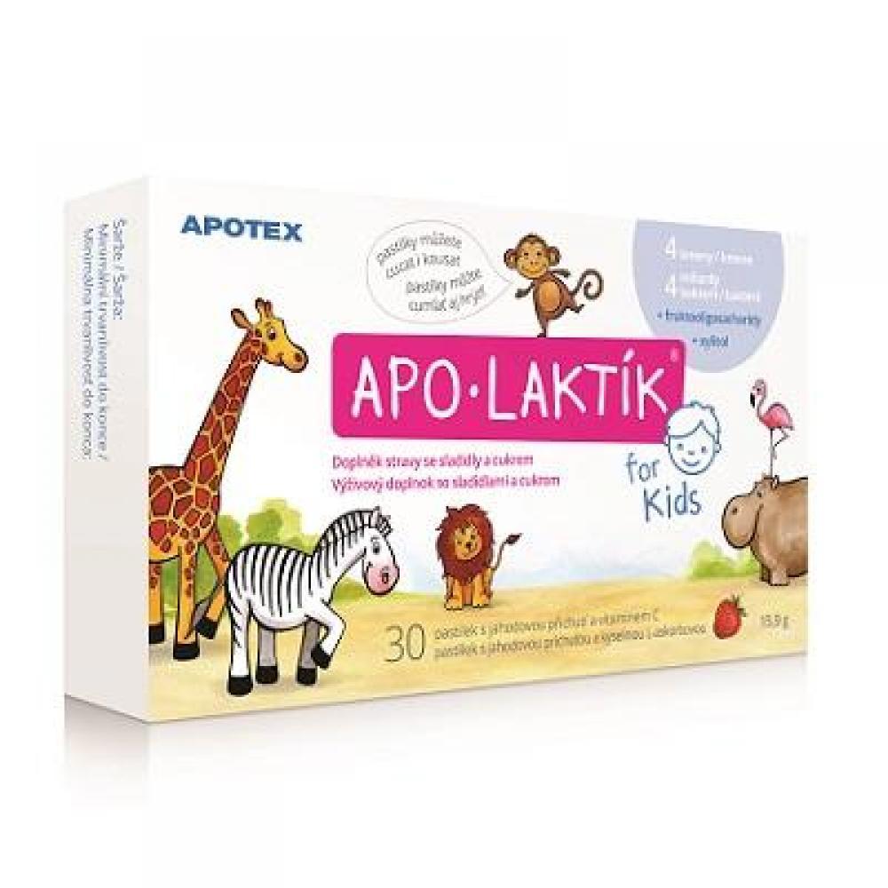 APOTEX Apo-Laktík for Kids 30 žvýkacích pastilek