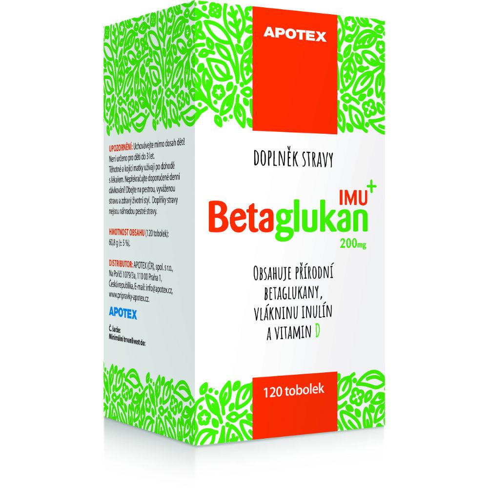 APOTEX Betaglukan IMU 200 mg 120 tobolek - Lékárna.cz 624b32294f