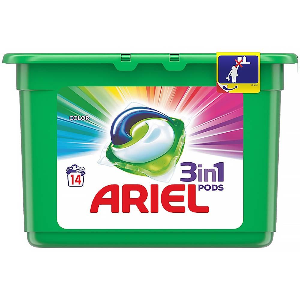 ARIEL Color kapsle na praní prádla 3v1 14 praní