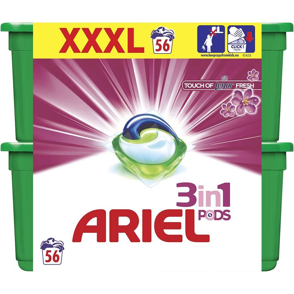 ARIEL Touch of Lenor Kapsle na praní 3v1 56 dávek
