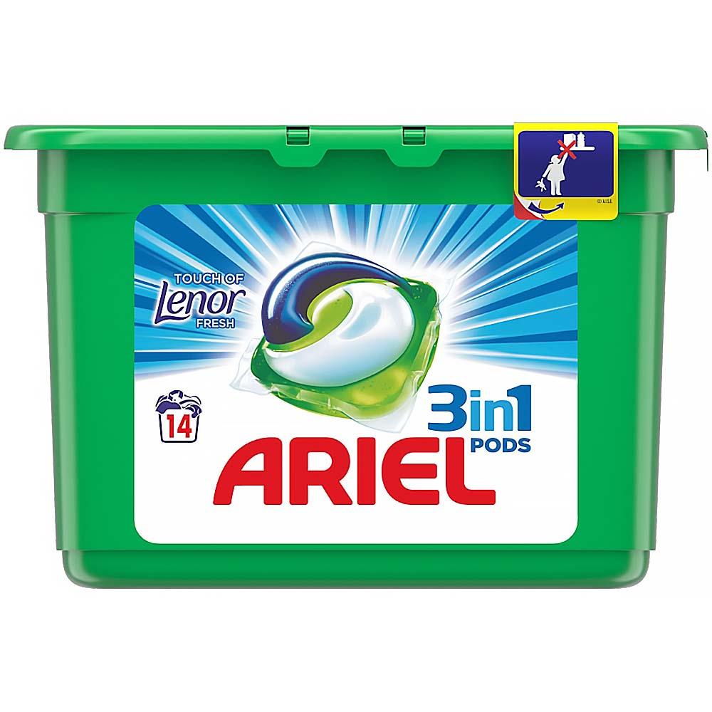 ARIEL Touch Of Lenor Fresh kapsle na praní 3v1 14 praní