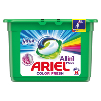 ARIEL Allin1 Pods Touch Of Lenor Fresh Color Kapsle na praní 14 praní