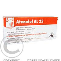 ATENOLOL AL 25  30X25MG Tablety