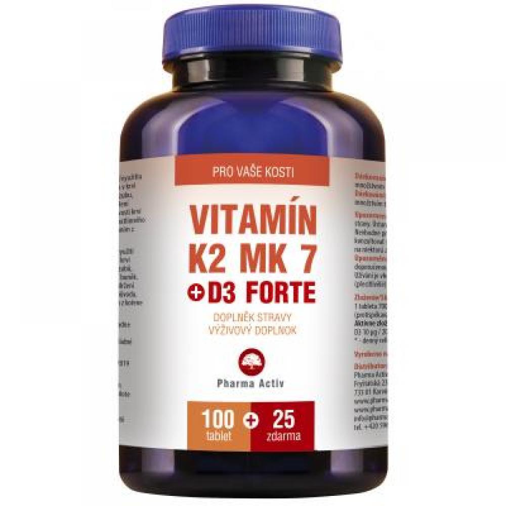 Vitamín K2 MK-7 + D3 forte 125 tablet