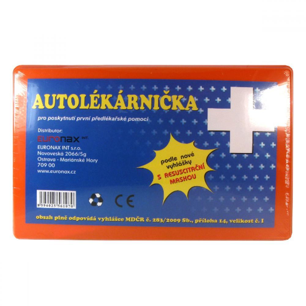 Autolékárnička NOVÁ VYHLÁŠKA č.216/2010 plastová krabička