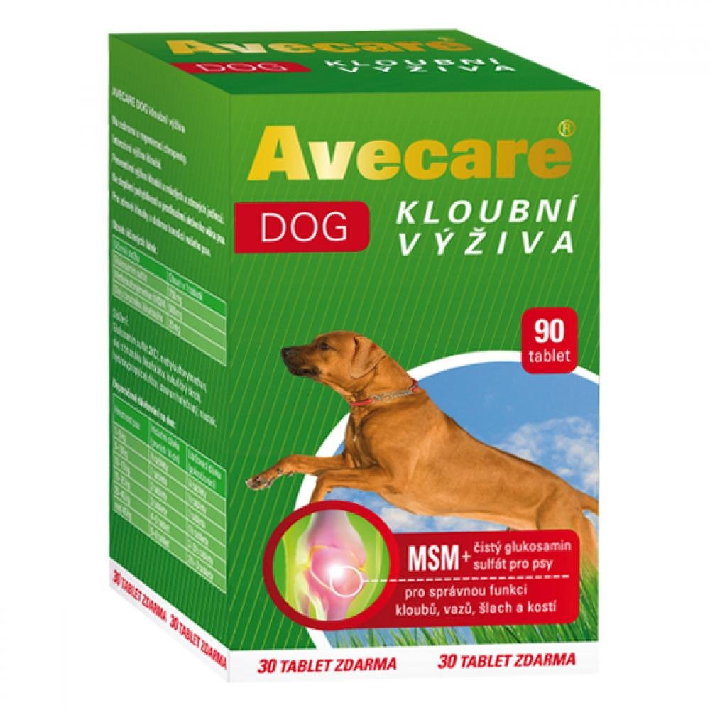 AVECARE Avecare Dog kloubní výživa MSM+ glukosamin 90tbl pesAveflor