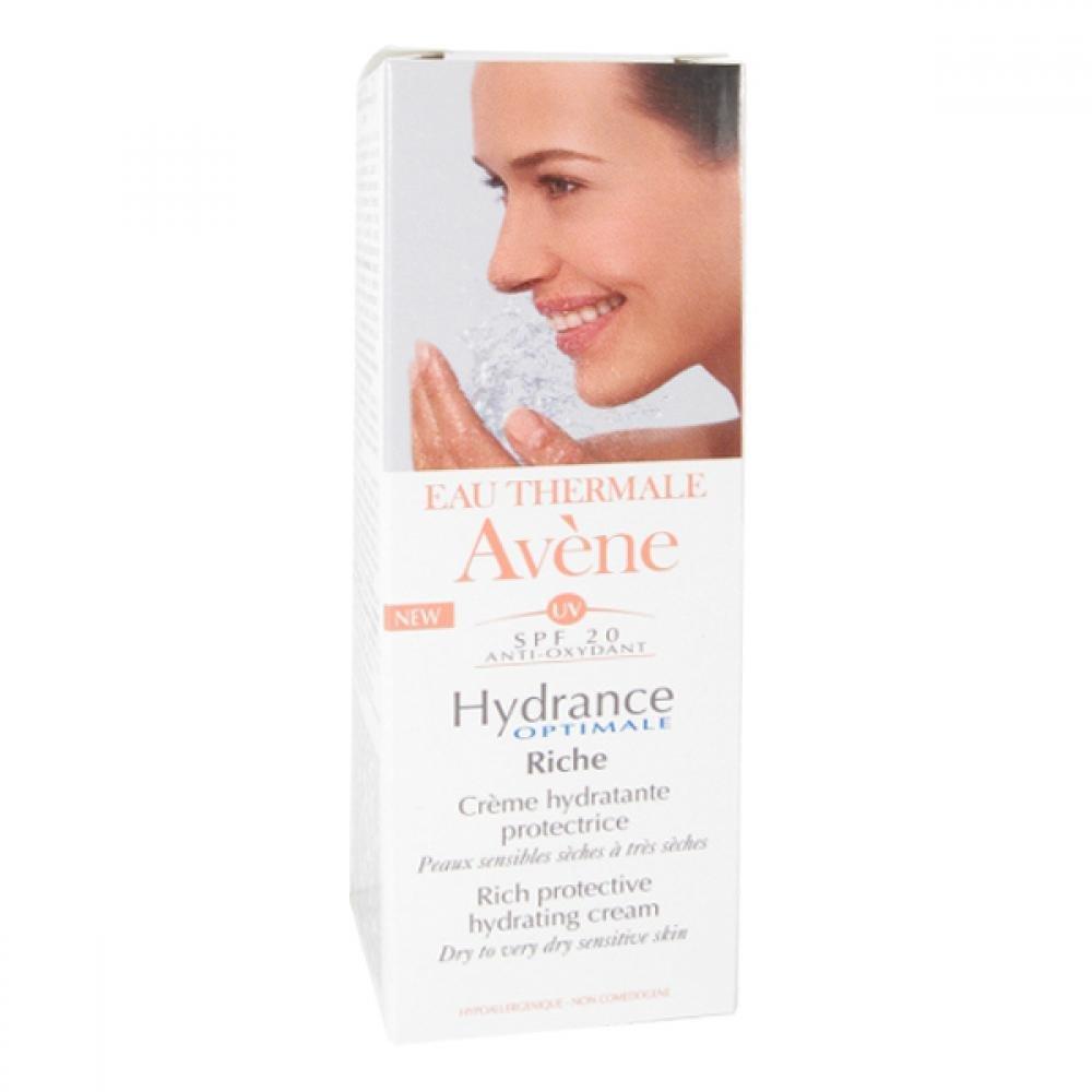 AVENE Hydrance optimale riche SPF 20 - Hydratační krém pro suchou citlivou pleť s ochranným faktorem 40 ml