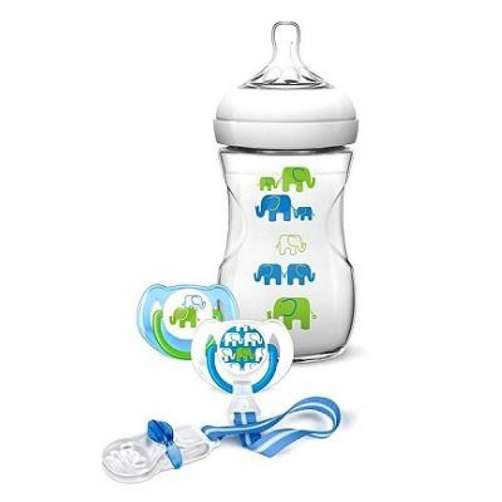 PHILIPS AVENT Sada Natural slon pro chlapce 260 ml
