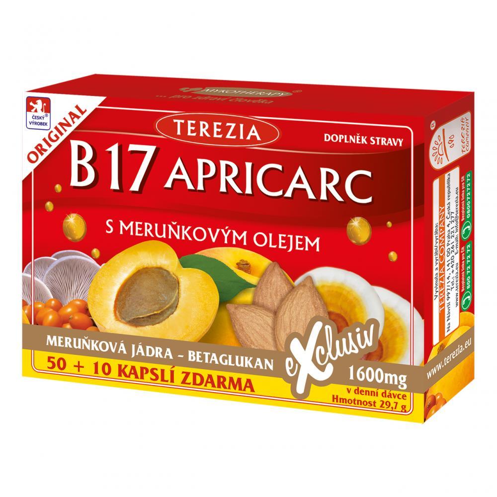 TEREZIA B17 Apricarc s meruňkovým olejem 50+10 kapslí