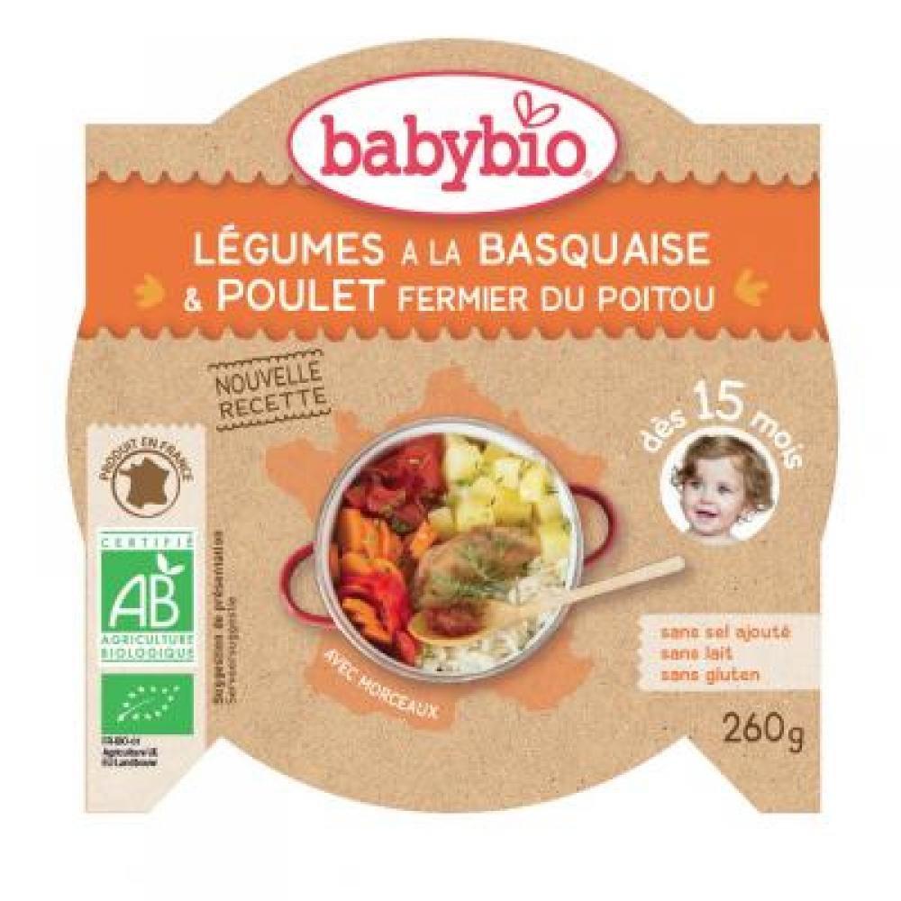 BABYBIO Zelenina s kuřecím masem a rýží 260 g